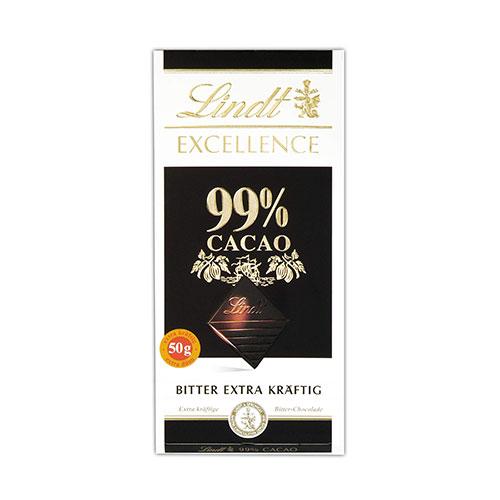 린트 엑설런스 다크 카카오 99% 초콜릿 50g